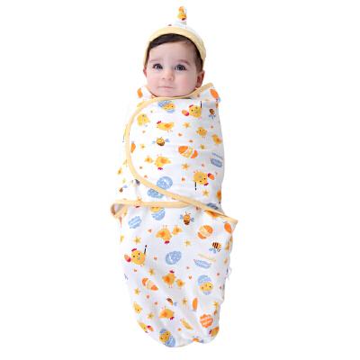 婴儿襁褓包巾新生儿防惊跳宝宝睡袋纯棉包被抱被春夏薄款