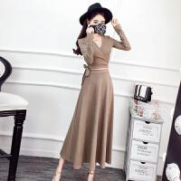 春装新款名媛性感烫金开衫上衣+高腰修身半身裙长裙套装女