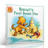 英文原版绘本 Biscuit's First Beach Day 小饼干初次去海滩 图画故事书 儿童启蒙早教书籍 亲子