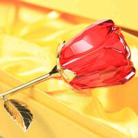 刻字玻璃玫瑰花 情人节礼物送女友老婆的浪漫惊喜 婚庆用品 生日礼物