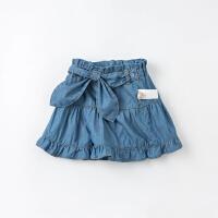 戴维贝拉女童裙裤2021夏装新款儿童牛仔短裤小童宝宝裤子纯棉