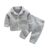 冬季女童夹棉睡衣冬季加厚儿童家居服0岁1男宝宝珊瑚绒套装秋冬两件套秋冬新款