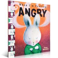 英文原版儿童正版童书情绪商管理绘本毛毛兔 When I'm Feeling Angry 当我感到生气时 调控宝宝正能量