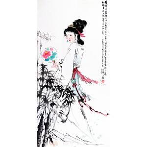 白伯骅《美女图》中国画艺术大师