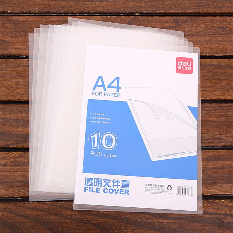 单页夹A4单片l形型文件夹透明L夹插页保护套个人面试简历膜资料袋硬档案试卷多功能商务硬办公学生用简约 10个整包 透明PP材质 厚度0.18mm