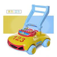 婴儿学步车宝宝手推车玩具车侧翻多功能带音乐调速调高低7-18月D28 123款黄色带音乐灯光调速调高低 内置加重箱