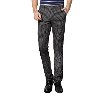 1号牛仔 男士商务休闲裤 春夏季薄款男裤修身直筒黑色长裤子