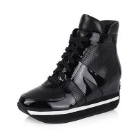 Bata/拔佳专柜同款牛皮革/漆皮牛皮女靴509-3DD5