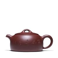 宜兴紫砂茶壶功夫茶具筛风弄月壶紫泥半月壶全手工礼品