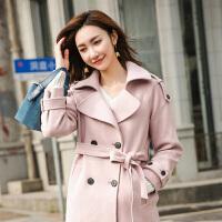 赫本风毛呢大衣2018秋冬季新款学生流行韩版收腰中长款呢子外套女