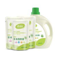 可爱多草本洗衣液2L*2桶+3袋洗衣液