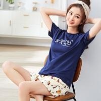 韩版夏季睡衣女短袖短裤卡通休闲女士春夏款纯棉少女家居服套装 G8109 160/M 85-100斤