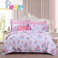 【年货直降】富安娜出品 酷奇智儿童卡通印花床品四件套纯棉印花床单被套