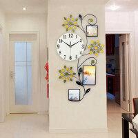 欧式相框钟表挂钟客厅创意时尚时钟现代简约个性装饰静音石英钟 20英寸(直径50.5厘米)