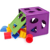 1-2岁宝宝几何形状色彩认知塑料配对积木儿童玩具
