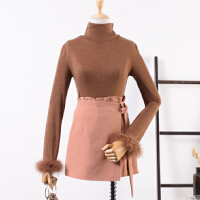 20 秋季新款时尚高领针织衫韩版长袖打底上衣