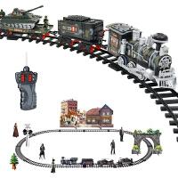 遥控轨道车玩具组合套装小火车拼装小汽车电动儿童充电男
