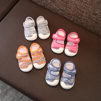 宝宝学步机能凉鞋夏潮新款包头男女小儿童沙滩鞋软