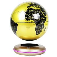 磁悬浮摆件磁悬浮地球仪发光自转办公室摆件创意摆件客厅摆件礼品 金色 新款8寸发光金