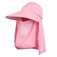 夏季防晒帽骑车帽 夏天户外骑行帽太阳帽女士护脸护脖遮阳帽