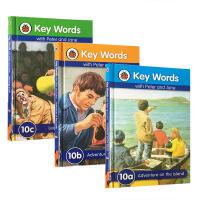 【全店300减100】圣诞节礼物英文原版key words ladybird第十阶10a10b10c三本套装 启蒙3-6