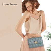 【1件3折,到手价:76.5元】Clous Krause ck包包女包2019新款时尚百搭斜挎包菱格链条包ins欧美风