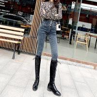 牛仔裤女高腰2019春秋新款韩版紧身显瘦黑色长裤弹力外穿小脚裤子