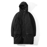 羽绒服男中长款2018冬季新款韩版修身款加厚连帽保暖男装外套潮流