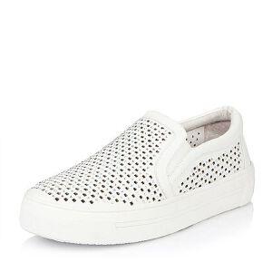 Belle/百丽春季专柜同款休闲舒适牛皮女单鞋BJBF1AM6小白鞋运动鞋女小白鞋女女乐福鞋