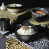 餐具套装土碗复古家用陶瓷个性吃饭碗创意4.5寸小碗