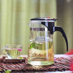 飘逸杯玻璃茶具可拆洗过滤泡茶壶玻璃壶功夫茶道水杯玻璃杯子500ML办公茶道杯花茶泡茶壶