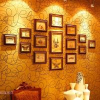 欧式照片墙相框墙组合 复古菱形创意相片墙 地中海照片框
