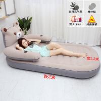卡通充气床垫榻榻米懒人沙发床折叠单双人大软床龙猫卧室地铺儿童 单人床2*1.2米 / 灰色【标配】 其它