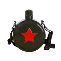 户外运动水壶儿童学生军训水杯不锈钢行军壶便携随身背带水壶