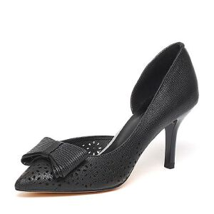 BASTO/百思图春季专柜同款羊皮优雅细高跟女鞋16A26AK6