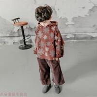 冬季童装男童秋冬装洋气套装2019新款儿童韩版中大童卫衣加绒加厚潮衣秋冬新款