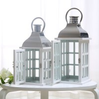 简约落地大风灯走马灯木质不锈钢浪漫蜡烛台摆件