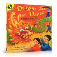 【全店300减100】《Dragon Dance》 舞龙-中国新年 儿童启蒙认知英文原版节日图画书 翻翻书