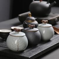 茶叶罐陶瓷 复古迷你便携小号存储密封罐 红茶普洱包装盒