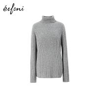 伊芙丽毛衣女2019新款春装长袖高领山羊绒打底衫针织衫羊毛衫