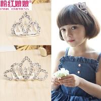 韩版儿童发饰头饰可爱公主水钻皇冠发梳插梳发夹边夹发卡顶夹饰品