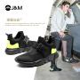 jm快乐玛丽秋季新款时尚运动鞋平底套脚男鞋拼色休闲鞋