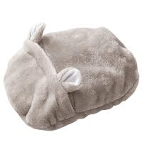 日本汤婆子热水袋简约可爱毛绒套可拆洗冲水暖手宝注水充水暖手袋旅游用品