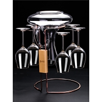 红酒杯套装家用玻璃6只高脚杯醒酒器杯架欧式酒具