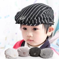 6-12个月婴儿帽子春秋男宝宝贝雷帽薄款时尚韩国潮流可爱鸭舌帽