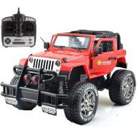汇纳 1:8一键开门遥控越野车儿童遥控车玩具可充电 379-1