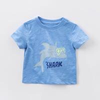 戴维贝拉宝宝童装T恤男童夏装短袖T恤 宝宝卡通T恤5色DBJ7471