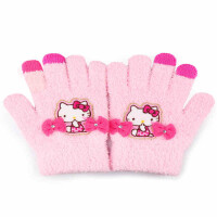 Hello Kitty儿童手套冬 女童保暖可爱小孩五指小学生女孩宝宝手套