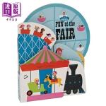 【中商原版】游乐园 Fun at the Fair 异形书 低幼启蒙纸板书 睡前阅读 益智游戏书 英文原版 0+岁