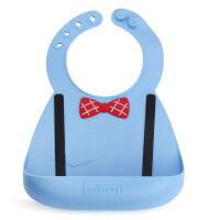 Make my day软硅胶婴幼儿可调节尺寸围兜宝宝硅胶立体防漏围嘴